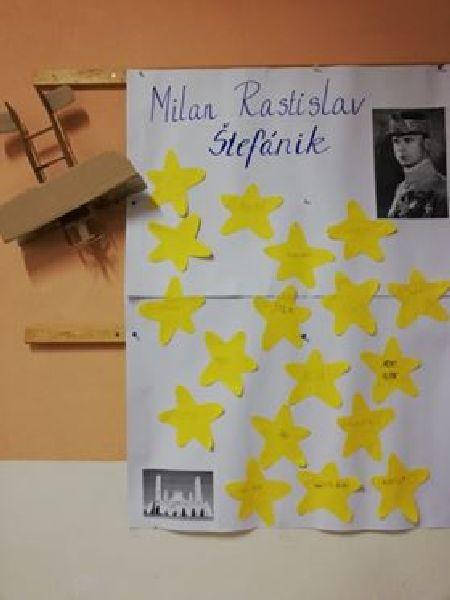 Práve prezeráte fotografiu z galérie: Tematický deň na 1. stupni : Milan Rastislav Štefánik